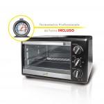 Spice Habanero 23 litri Forno Fornetto elettrico ventilato doppio vetro 1380 W con Termometro Professionale