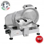 SPICE Paprika 220 Plus - Affettatrice Professionale in Pressofusione Alluminio Lama Made in Italy 22 cm 160 W