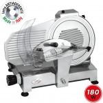 SPICE Paprika 275 Plus - Affettatrice Professionale in Pressofusione Alluminio Lama Made in Italy 27,5 cm 180 W - Affilatoio Incluso
