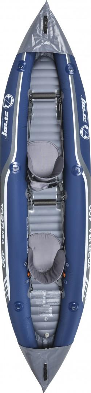 Kayak Canoa Gonfiabile Biposto ZRAY Tortuga 400x90 pagaia a doppia pala e zaino trasporto inclusi