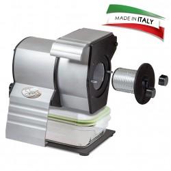 Gratika Gourmet PRO Made in Italy Grattugia Professionale in Alluminio Estruso Anodizzato 230 W-con Contenitore Vetro con Coperchio per Microonde, Acciaio Inossidabile