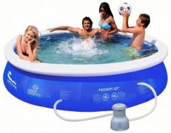 Piscina Fuoriterra Rotonda Jilong 10203EU 360x76cm Gonfiabile Autoportante Blu con Pompa Filtro