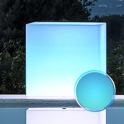 MONACIS - CUBE POT BRIGHT BLUE VASO LUMINOSO 40 X 40 X 40 CM