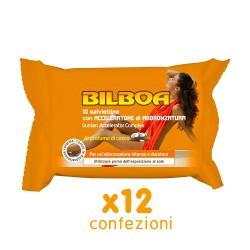 BILBOA - 12 CONFEZIONI DA 10 SALVIETTINE ABBRONZANTI CON ACCELERATORE DI ABBRONZATURA PROFUMAZIONE COCCO