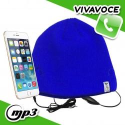 Spice Cappello Berretto con auricolari cuffie integrati vivavoce smartphone - Blu