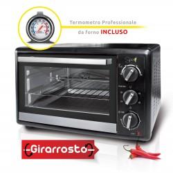 Spice Habanero 40 litri Forno Fornetto elettrico ventilato doppio vetro con Girarrosto 1500 W con Termometro Professionale