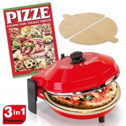 Spice Set Forno Pizza Caliente 400 gradi resistenza circolare 1200 W Garanzia Italia 2 anni + Ricettario Pizza Calzoni Pane + 2 Palette Legno Made in Italy