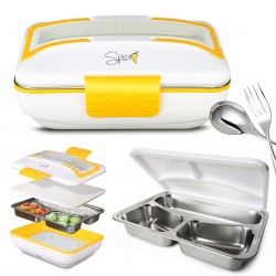 Spice Amarillo Inox Trio Scaldavivande Lunch Box 40 W + Vaschetta acciaio inox estraibile con coperchio di tenuta