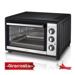 SPICE Habanero 60 Litri Forno fornetto Ventilato Doppio Vetro con Girarrosto 2200 W
