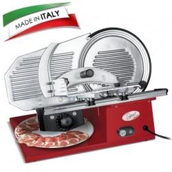 SPICE - Paprika Gourmet Pro 25 Made in Italy - Affettatrice Professionale in Pressofusione di Alluminio Lama 25 Cm con sistema Antiaderente a scanalature 180 W
