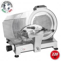 SPICE Paprika 300 Plus - Affettatrice Professionale in Pressofusione Alluminio Lama Made in Italy 30 cm 220 W - Affilatoio Incluso