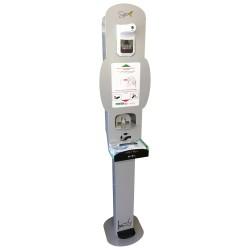 Spice Totem Gel Premium CT by MAPA - totem porta dispenser gel disinfettante mani con termometro istantaneo a infrarossi