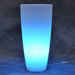 MONACIS - STILO ROUND BRIGHT VASO LUMINOSO LED BLUE H 70 Ø 33 CM
