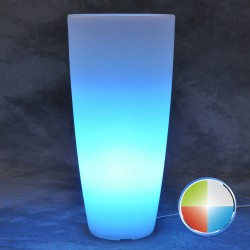 MONACIS - STILO ROUND BRIGHT VASO LUMINOSO A BATTERIA LED MULTICOLOR H 70 Ø 33 CM