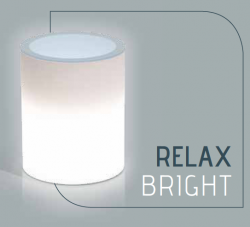MONACIS - RELAX BRIGHT VASO LUMINOSO LED WHITE H 50 Ø 40 CM