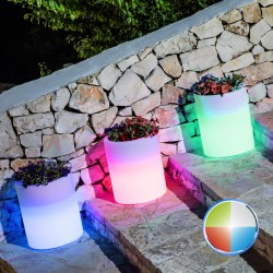 MONACIS - VENUSIO BRIGHT LED MULTICOLOR VASO LUMINOSO BATTERIE RIC Ø 40 CM