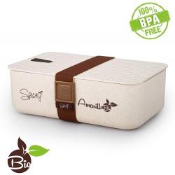 SPICE Amarillo Bio Scaldavivande Bento Box schiscetta Portatile portavivande Termico Materiale Ecologico Naturale BPA Free capacità 1,1 Litri, Crema, 1100 ml