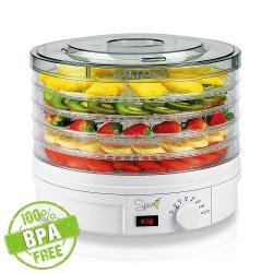 SPICE - TESEKO essiccatore disidratatore per alimenti 5 scomparti temperatura regolabile 35-70 gradi BPA FREE