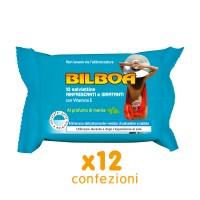 BILBOA - 12 CONFEZIONI DA 10 SALVIETTINE RINFRESCANTI E IDRATANTI PROFUMAZIONE MENTA