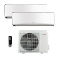 ARGOCLIMA WALL DUAL 9000 + 12000 btu inverter climatizzatore condizionatore  fisso dual split con unità esterna classe A++/A+