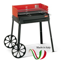 FERRABOLI - 129 TRIBU' BBQ BARBECUE A CARBONELLA 83x55 altezza 85,5  MADE IN ITALY