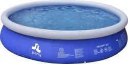 Piscina Fuoriterra Rotonda Cm 420x84 Gonfiabile Autoportante Blu Jilong con Pompa Filtro