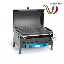 FERRABOLI - IBIZA BBQ BARBECUE ROCCIA LAVICA GHISA A GAS GPL BBQ 71/A MADE IN ITALY