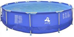 Piscina Fuoriterra Rotonda Jilong Cm 420x84 Blu con Struttura in Acciaio con Pompa Filtro e Scala