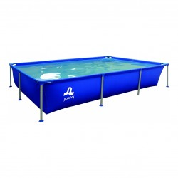 Piscina Fuoriterra Rettangolare Jilong Cm 258x179x66 Blu con Struttura in Acciaio con Pompa Filtro