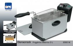 "DPE - FRIGGITRICE ELETTRICA  ACCIAIO INOX LAVABILE  CAPACITA' 3 LITRI W 2000 ""DORACROCK"""