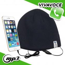 Spice Cappello Berretto con auricolari cuffie integrati vivavoce smartphone - Nero