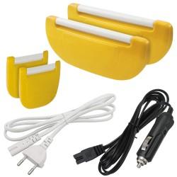 SPICE Ricambio Set 4 Chiusure + Cavo di Alimentazione 12V + 220V per Amarillo Inox Plus