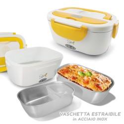 Spice Amarillo Inox Scaldavivande elettrico vaschetta acciaio Inox estraibile portatile schiscetta box portavivande termico