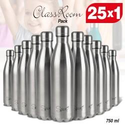 SPICE ClassRoom Set 25 Bottiglie Borracce Termiche in Acciaio Inox 750 ml