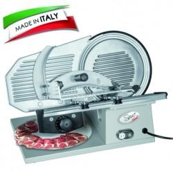 SPICE - Paprika Gourmet Pro 22 Made in Italy - Affettatrice Professionale in Pressofusione di Alluminio Lama 22 Cm con sistema Antiaderente a scanalature 160 W