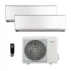 ARGOCLIMA WALL DUAL 9000 + 9000 btu inverter climatizzatore condizionatore  fisso dual split con unità esterna classe A++/A+