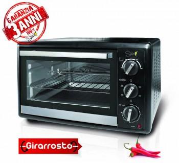 Spice Habanero 40 litri - 3 Anni di Garanzia - Forno Fornetto elettrico ventilato doppio vetro con Girarrosto 1500 W